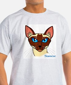 Painted Siamese Cat Face T-Shirt