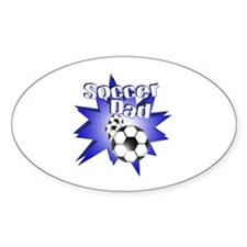 Soccer Dad Blue Oval Decal