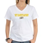 Irony is Andrew Jackson Women's V-Neck T-Shirt