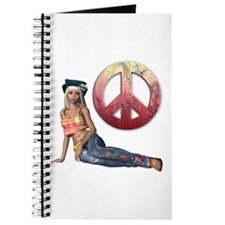 Hippie Peace Sign Journal
