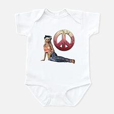 Hippie Peace Sign Infant Bodysuit