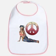 Hippie Peace Sign Bib