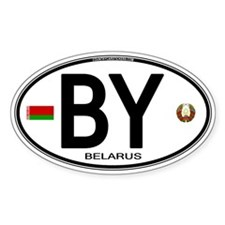 Belarus Euro Oval Oval Decal