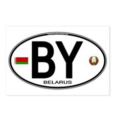 Belarus Euro Oval Postcards (Package of 8)