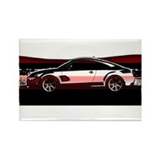 Speed Silouette Rectangle Magnet