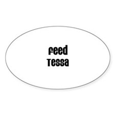 Feed Tessa Oval Decal