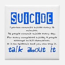 Suicide Statistics Tile Coaster