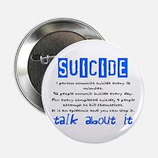 """Suicide Statistics 2.25"""" Button"""