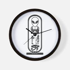 Alien-Egyptian Cartouche 13 Wall Clock