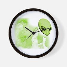 A.L.I.E.N. Galaxies Lime Wall Clock