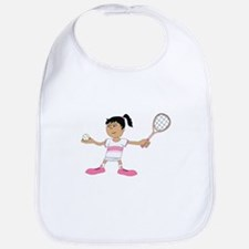Tennis Girl Bib