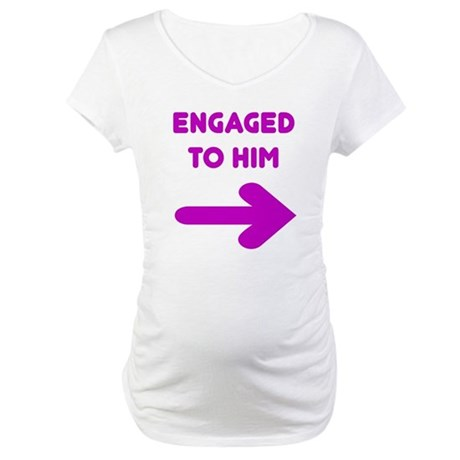 Engaged Arrow Maternity T-Shirt