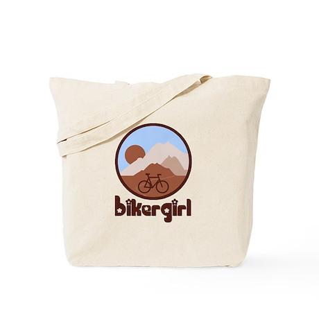 BikerGirl Blue Sky Tote Bag