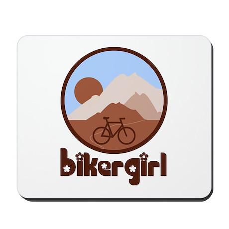 BikerGirl Blue Sky Mousepad