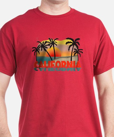 California Beaches Sunset T-Shirt