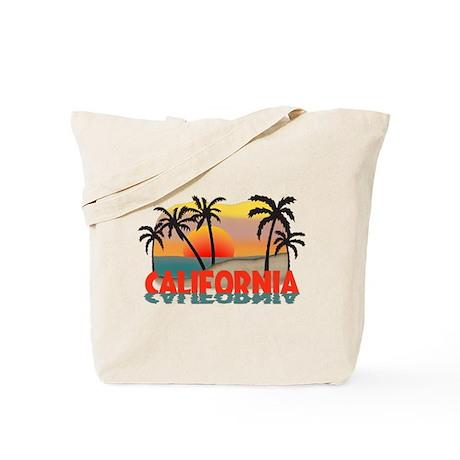 California Beaches Sunset Tote Bag