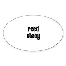 Feed Stacy Oval Decal