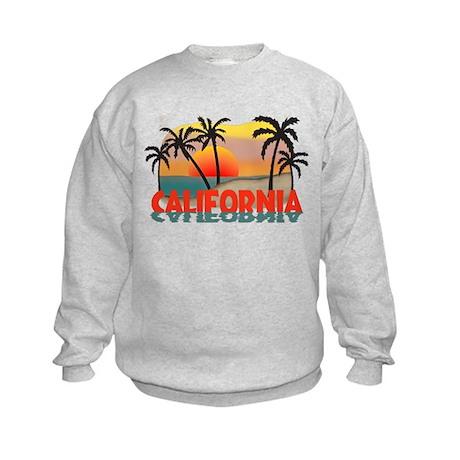 California Beaches Sunset Kids Sweatshirt
