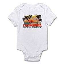 California Beaches Sunset Infant Bodysuit