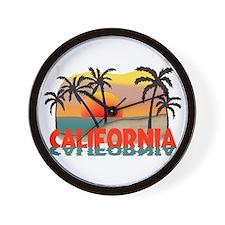 California Beaches Sunset Wall Clock
