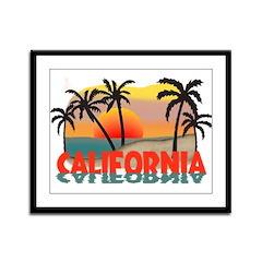 California Beaches Sunset Framed Panel Print