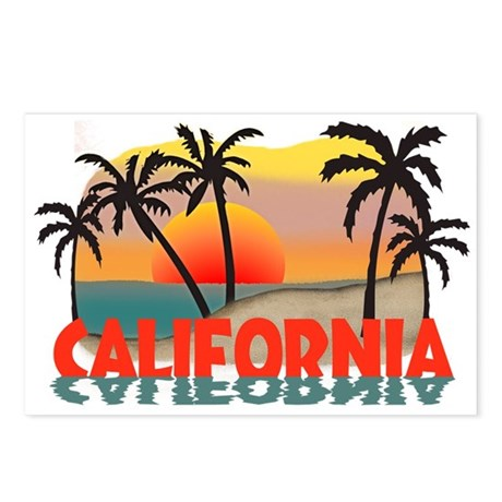 California Beaches Sunset Postcards (Package of 8)