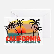 California Beaches Sunset Greeting Card