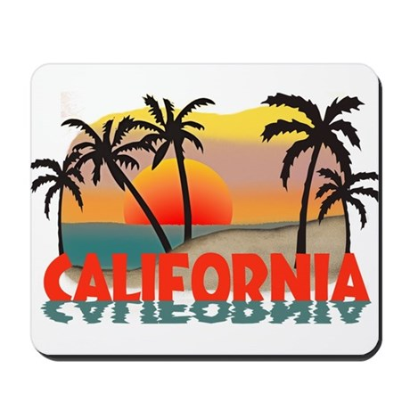 California Beaches Sunset Mousepad