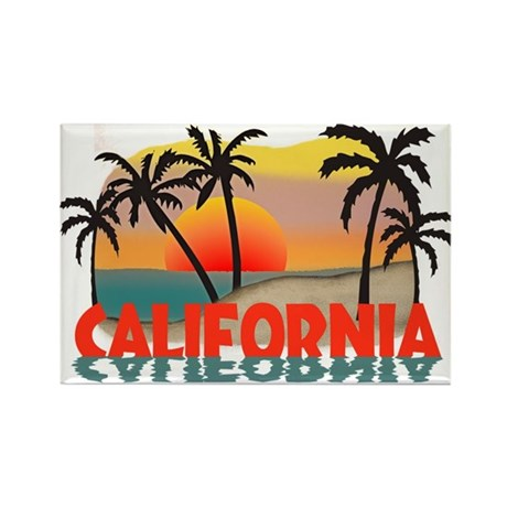 California Beaches Sunset Rectangle Magnet