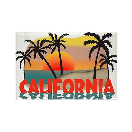 California Beaches Sunset Rectangle Magnet (100 pa