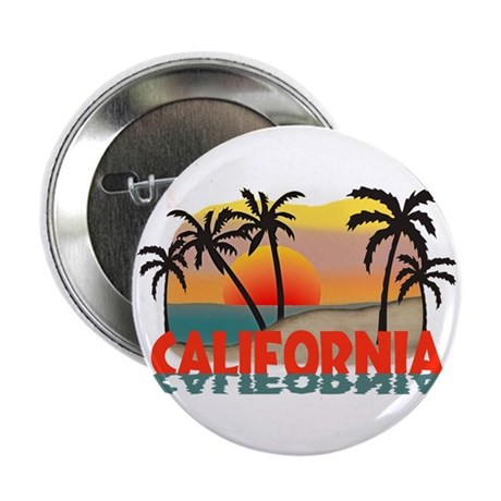 "California Beaches Sunset 2.25"" Button (100 pack)"