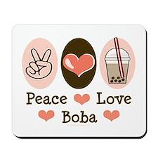 Peace Love Boba Bubble Tea Mousepad