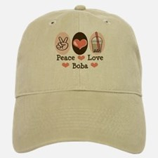 Peace Love Boba Bubble Tea Baseball Baseball Cap