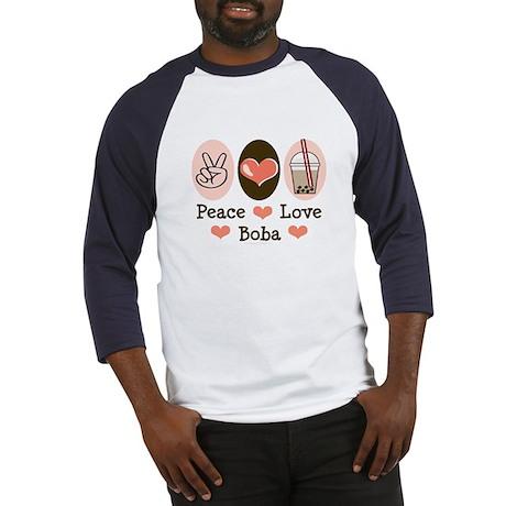 Peace Love Boba Bubble Tea Baseball Jersey
