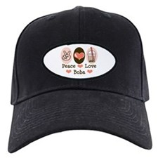 Peace Love Boba Bubble Tea Baseball Hat