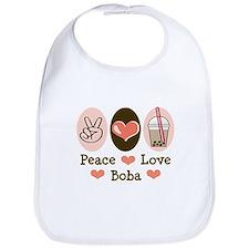 Peace Love Boba Bubble Tea Bib