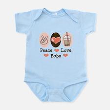 Peace Love Boba Bubble Tea Onesie