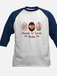 Peace Love Boba Bubble Tea Tee
