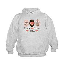 Peace Love Boba Bubble Tea Hoodie