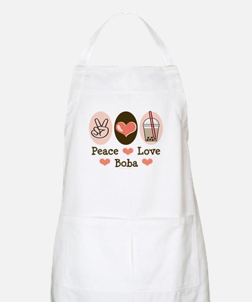 Peace Love Boba Bubble Tea BBQ Apron