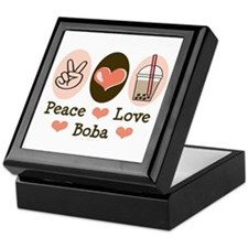Peace Love Boba Bubble Tea Keepsake Box