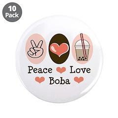 Peace Love Boba Bubble Tea 3.5