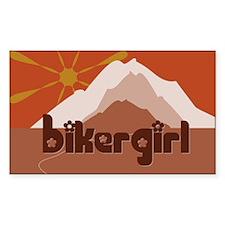 BikerGirl Sunset Sky Rectangle Sticker 10 pk)