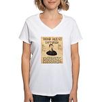 Black Bart Women's V-Neck T-Shirt