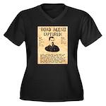 Black Bart Women's Plus Size V-Neck Dark T-Shirt