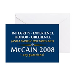 McCain & A Smokin' Hot 1st Lady Greeting Cards (Pk