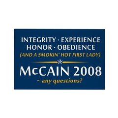McCain & A Smokin' Hot 1st Lady Rectangle Magnet (