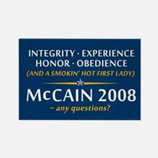 McCain & A Smokin' Hot 1st Lady Rectangle Magnet
