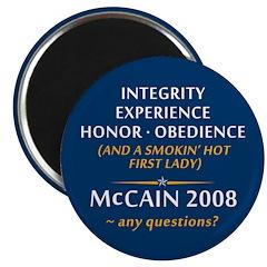 McCain & A Smokin' Hot 1st Lady Magnet