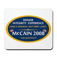 McCain & A Smokin' Hot 1st Lady Mousepad